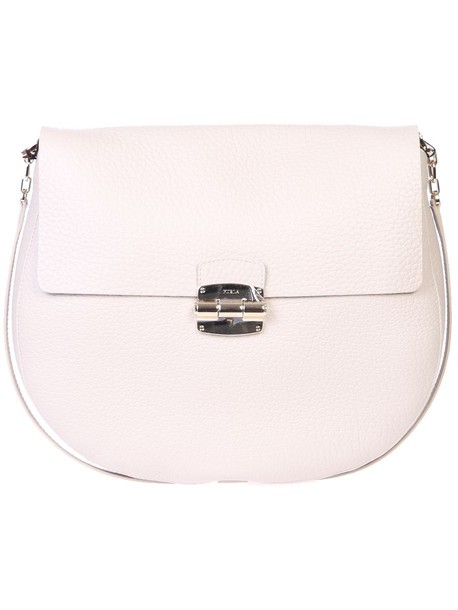 Furla bag leather bag leather white
