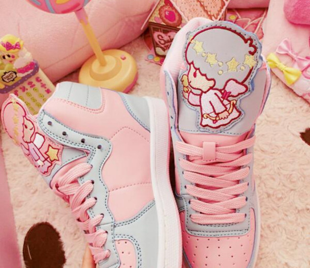 shoes fairy kei decora harajuku little twin stars sanrio hello kitty sneakers