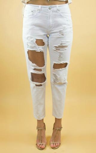 Reverse | Jamie Boyfriend Jeans in White