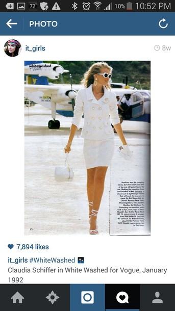white dress claudia schiffer classy dress