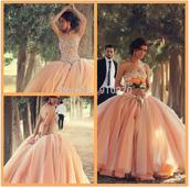 dress,champange,wedding dress,bridal gown,champange prom dress,pink wedding dress