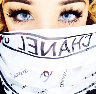 scarf chanel jadah doll pretty girly beauty fashion shopping pattern eyes perfect infinity scarf style