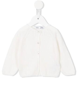 cardigan girl knit white sweater