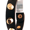 Black cuff - gold studded leather bracelet in | ustrendy