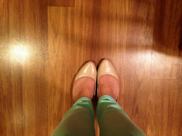 nude shoes shoes sea foam green jeans