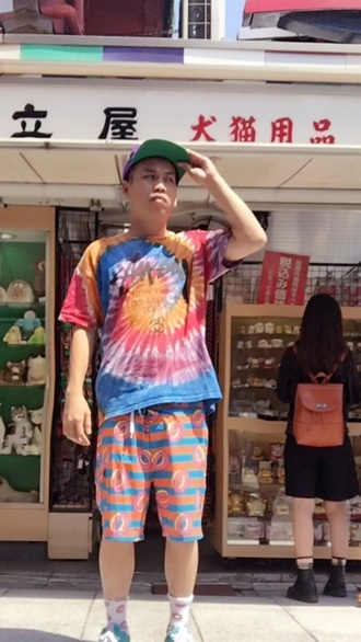 pants odd future golf wang menswear tie dye donut