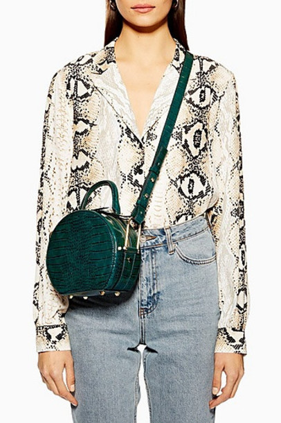 TopShop Blair Circle Cross Body Bag - Green