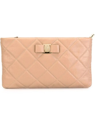 quilted clutch nude bag