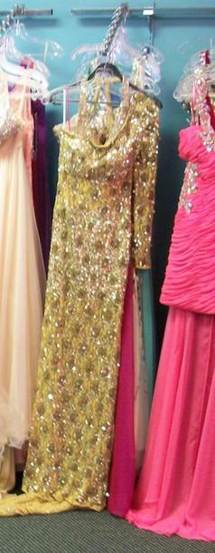 dress marigold long sleeves