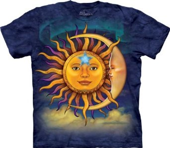 Amazon.com: The Mountain Sun Moon Adult T-shirt: Novelty T Shirts: Clothing