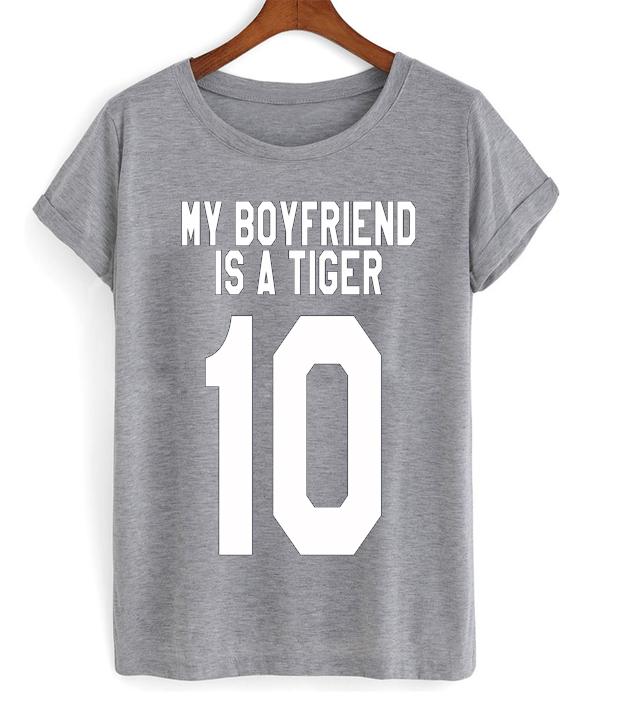 My Boyfriend Is A Tiger T-shirt - StyleCotton