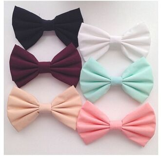 bows black bow pink bow white bow red bow blue bow mint pastel bows hair accessories mint green bow