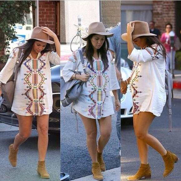 kourtney kardashian boho kardashian style girl white