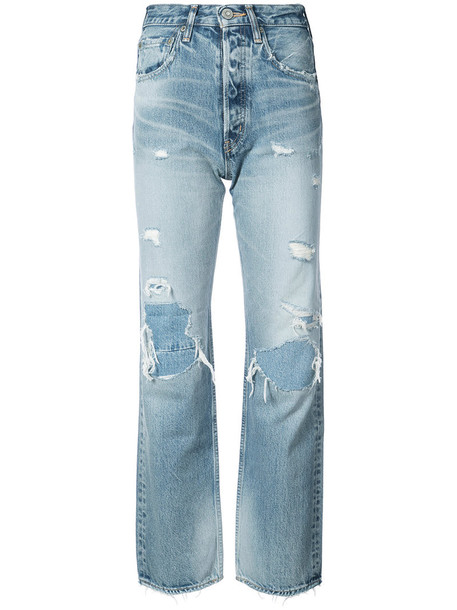 Moussy jeans boyfriend jeans women boyfriend cotton blue