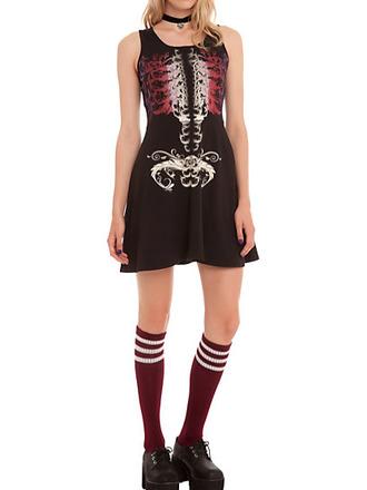 skeleton rib cage bone bones goth gothic grunge nu goth halloween