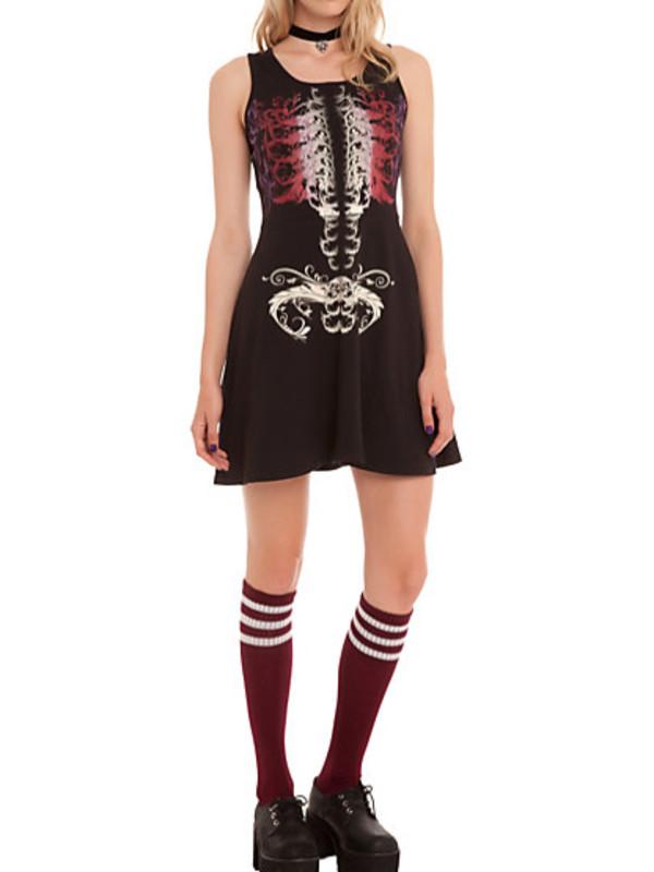skeleton rib cage bones bones goth goth grunge nu goth halloween