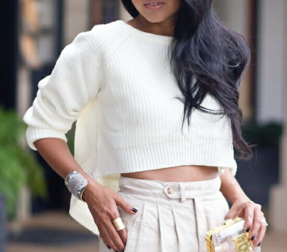 knit sweater knitted longsleeve girl