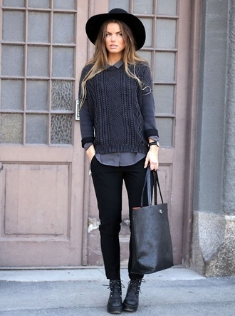 sweater bag heels high heels jeans pants blouse hat ombre hair watch paris