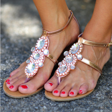 I Love Cute Shoes |  Fit For A Queen Sandals: Rose Gold