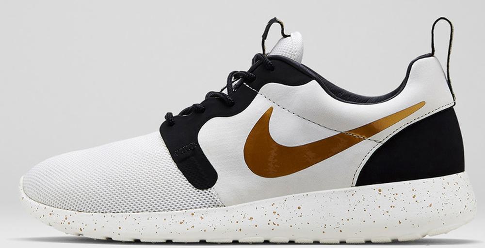 Nike Roshe One Hyperfuse 3M Ivory Metallic Gold-Black Roshe Gold Trophy Womens Mens Running Shoes