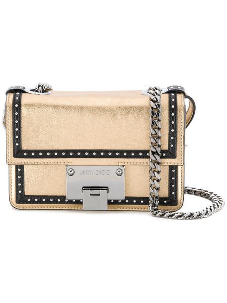 Jimmy Choo mini shoulder bag mini women soft bag shoulder bag leather grey metallic