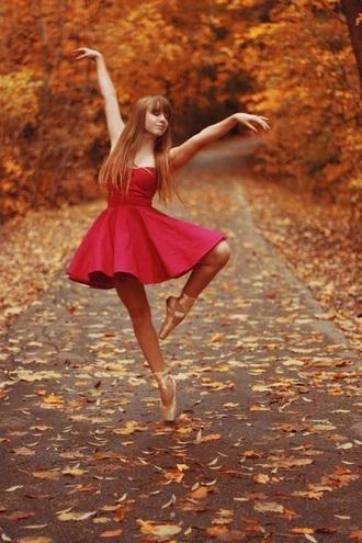 dress red dress skater dress romantic cute