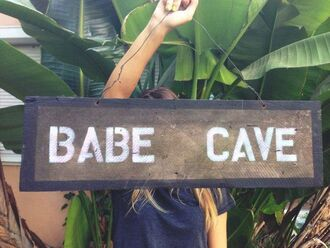 t-shirt sign home decor paris room decor babe cave wood board