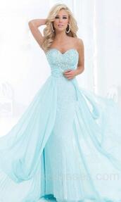 prom dress,prom gown,evening dress,light sky blue dress,chiffon prom dress,2015 prom dress,2014 evening gowns,formal dress