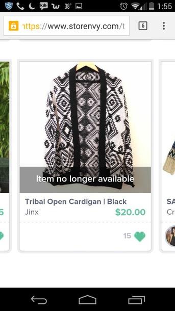 cardigan tribal cardigan tribal pattern knitted cardigan
