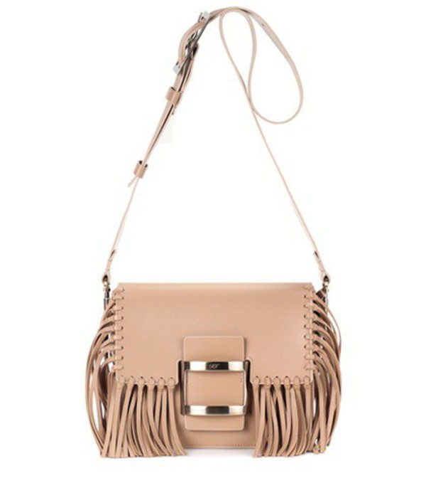 Roger Vivier Viv Mini leather shoulder bag in brown