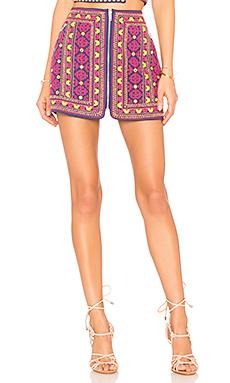 MAJORELLE Port Skirt in Sunset from Revolve.com