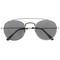 Dapper double crossbar flat front round aviator sunglasses a144