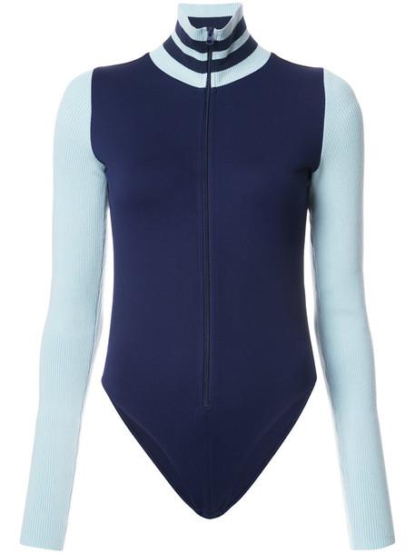 Fenty x Puma bodysuit high women high neck spandex blue underwear