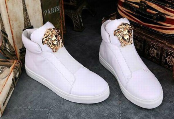 shoes versace medusa versace sneakers high top. Black Bedroom Furniture Sets. Home Design Ideas