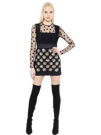 dress gold black
