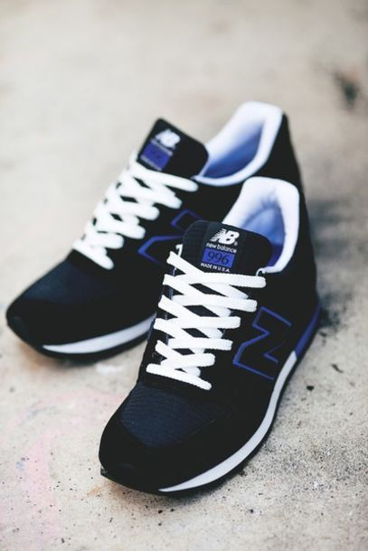 shoes new balance new balance sneakers new balance 996 black blue white trainers beautiful new balance 996 made in usa