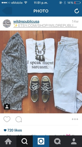 shirt graphic tee crop tops white t-shirt cardigan mom jeans converse top jeans