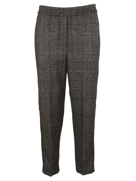 BRUNELLO CUCINELLI classic checkered grey pants