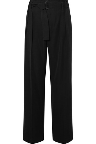 pants wide-leg pants black
