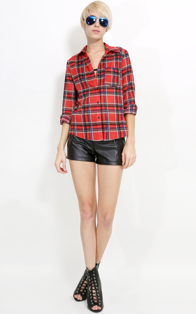 Flannel Button Up | MakeMeChic.com