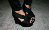 shoes,shoes black wedges,wedges