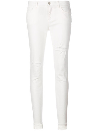 jeans skinny jeans women classic spandex white cotton