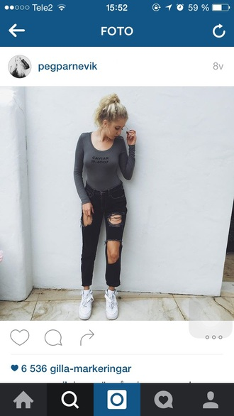jeans black black jeans denim ripped jeans tumblr outfit nice pretty cool girl style