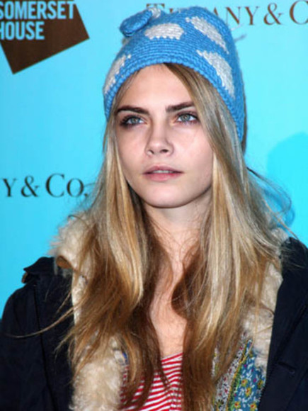 hat cara delevingne white light blue winter swag winter hipster style