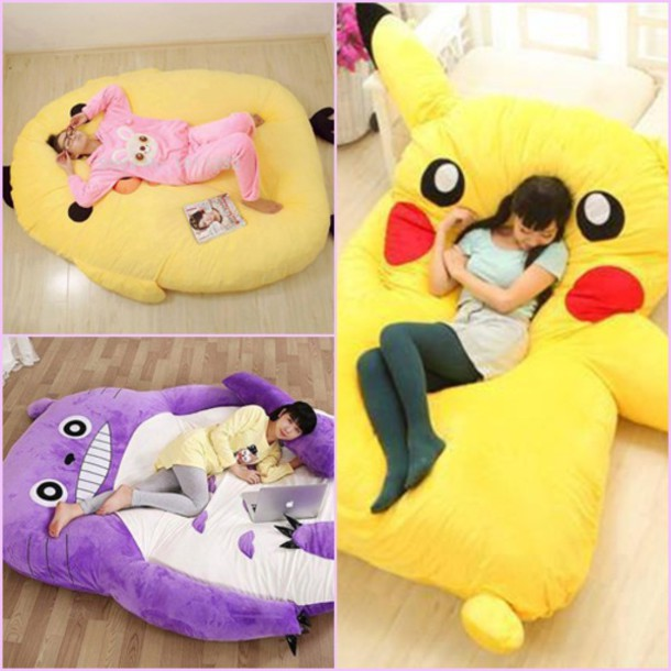 Home Accessory Pikachu Giant Bed Pillow Bed Huge