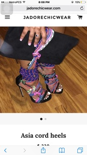 shoes,high heel sandals,strappy sandals,multicolor