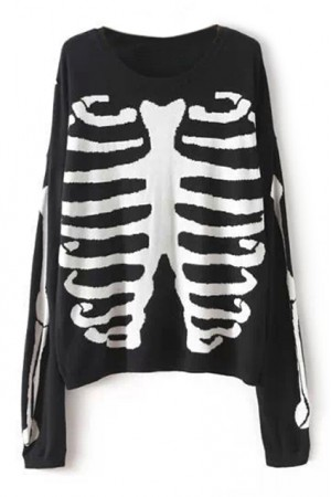 Kcloth graffiti skeleton black jumper