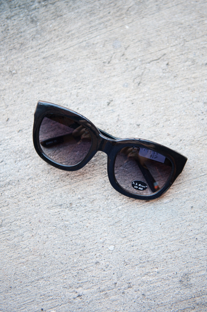 Shop the feline sunnies in black by a.j. morgan online