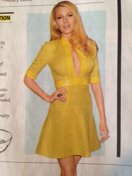 blake lively yellow dress