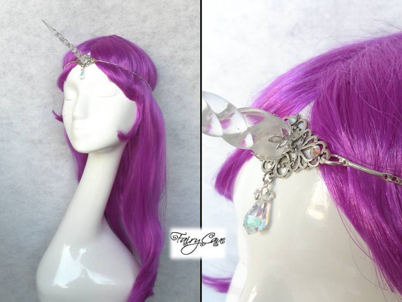 translucent unicorn circlet van FairyCaveShop op Etsy